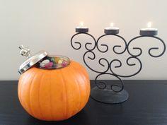 Sweetie jar halloween pumpkin.  Read more: http://www.knockknocklondon.co.uk/halloween-home/