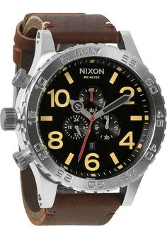 Nixon 51-30 Chrono Leather Brown/Black
