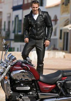 Biker style.