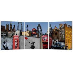 banksy trypitch, banksy london landmarks, banksy montage, banksy print banksy canvas print
