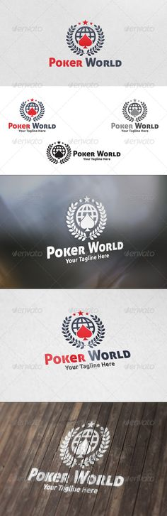 Poker World  Logo Template — Vector EPS #branding #fun • Available here → https://graphicriver.net/item/poker-world-logo-template/5831369?ref=pxcr