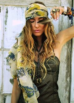head scarves, bohemina look, how to wear hair scarves (5)