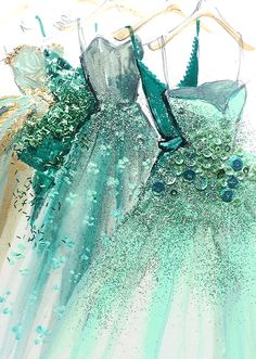 Beautiful Print! Aquamarine Party Dresses <3