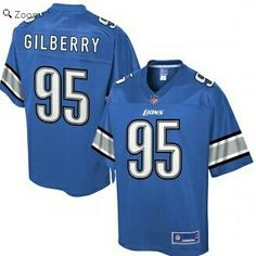 Detroit Lions Wallace Gilberry Pro Line Blue Player Jersey