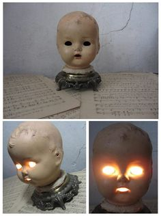 Creepy...great idea for haunted house room.