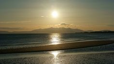 The Isle of Arran taken from Stevenston Beach, Scotland. Isle Of Arran, Family Roots, Scotland, Sunrise, Moon, Celestial, Island, Beach, Outdoor