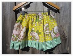 Sweet yellow/green figures skirt