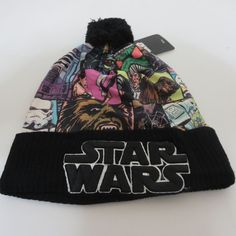 a8dc3c0a622 New Star Wars Logo HAT CAP Knit Winter Black HAT Beanie Skullcap Cosplay Hat   StarWars  Beanie
