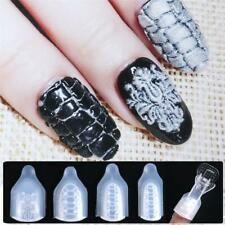 Uv Gel Diy Manicure 3d Flower Stencil Nail Art Stamping Nail