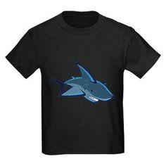 Blue Shark Design T-Shirt