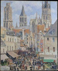 Rue de l'Épicerie, Rouen (Effect of Sunlight) / Camille Pissarro/ 1898 / Oil on canvas