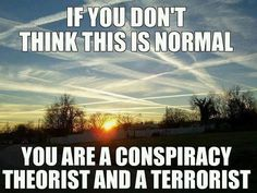 IF you don't think this is normal, you are a conspiracy theorist and a terrorist. Climate Engineering, Toxic Metals, Thing 1, Together We Can, New World Order, Conspiracy Theories, Global Warming, Climate Change, Wake Up