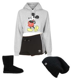 """""""Netflix w/ literal chill"""" by fooloftheworld627 on Polyvore featuring adidas Originals, Topshop and UGG Australia"""