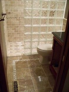 Glass blocks in bathroom; Traditional Bathroom small bathroom Design Ideas, Pictures, Remodel and Decor Small Bathroom With Shower, Bathroom Design Small, Modern Bathroom, Shower Bathroom, Bathroom Ideas, Bathroom Designs, Bathroom Faucets, Bathroom Mirrors, Downstairs Bathroom