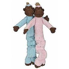 HuggleHounds Crunchy Monkey Dog Toy Blue  Mini -- You can get more details by clicking on the image.