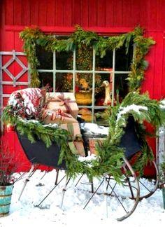 #Winter #Christmas #photography ToniK Joyeux Noël One horse open sleigh inspirationlane.tumblr.com