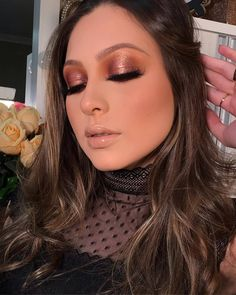 "523 curtidas, 3 comentários - MAQUIAGEM LOVERS (@maquiagemlovers) no Instagram: ""@camilacostamakeup ✨"" Ruby Rose, Rose Gold, Professional Makeup, How To Make, Diy, Instagram, Egyptian Makeup, Dark Circles Makeup, Makeup For Brides"