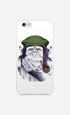 Coque iPhone Wise Mr Chimp by Libby Watkins | Art Shop | Wooop.fr