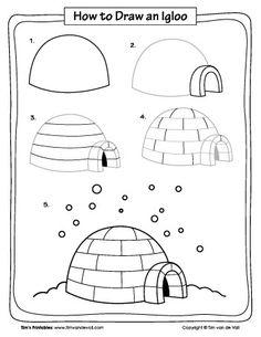 How to Draw an Igloo - Tim's Printables
