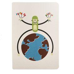 Carte postale à colorier Monde Wistiworld | Baby Prestige