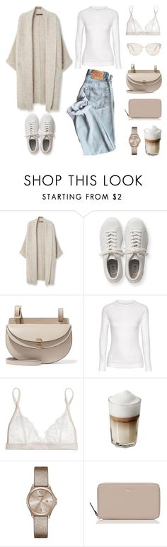 """""""Unbenannt #626"""" by fashionlandscape ❤ liked on Polyvore featuring Violeta by Mango, adidas Originals, Chloé, Falke, Mimi Holliday by Damaris, DKNY, Kate Spade and Oliver Peoples"""