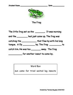 These cloze passages help students to use structure and meaning cues while reading. Great for use with struggling readers who over-rely on visual cues. 4th Grade Reading Worksheets, Cloze Reading, Social Studies Worksheets, Reading Help, Reading Comprehension Worksheets, Reading Passages, Kindergarten Reading, Reading Groups, Reading Skills
