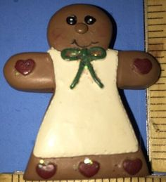 Vintage Christmas Gingerbread Girl Pin - Excellent Used Condition! A36  | eBay