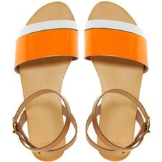 ASOS FORMAT Leather Flat Sandals ($23) ❤ liked on Polyvore featuring shoes, sandals, flats, flat sandals, sapatos, asos, asos flats, flat shoes and flat soled shoes