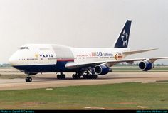 """Varig (Brazil) Boeing 747-300 in the """"Star Alliance"""" livery; early 2000s"""