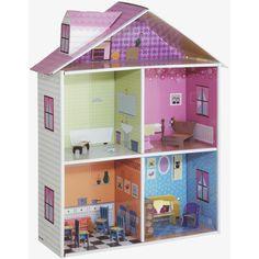 Habitat cardboard fire station and doll's house Cardboard Dollhouse, Uk Homes, Furniture Upholstery, Crafty Craft, Fashion Room, Small World, Habitats, Kids Room, Dolls