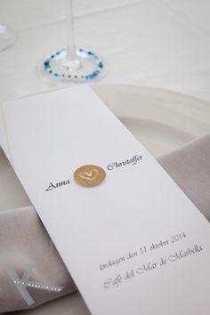 Wedding menu at Cafe del Mar Marbella on Anna and Christoffer wedding day. Wedding Menu, Wedding Day, Anna, Wedding Photography, Place Card Holders, Del Mar, Pi Day Wedding, Wedding Dinner Menu, Marriage Anniversary