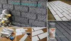 I'm not sure how durable this is, but it sounds like a good idea!  DIY Easy Faux Brick Wall Panel