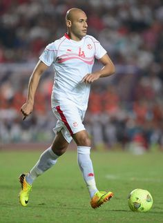Alaeddin Yahia of Tunisia in action during the FIFA 2014 World Cup qualifier at the Stade Olympique de Radès on October 13, 2013 in Rades, Tunisia.