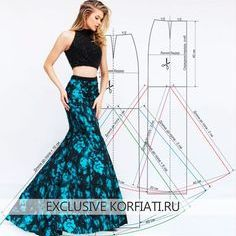 Pattern of long skirt year ANASTASIA KORFIATI Luxury in its pure form!Interesting adaptation of a simple skirt pattern Sewing Dress, Dress Sewing Patterns, Sewing Clothes, Clothing Patterns, Diy Fashion, Ideias Fashion, Fashion Design, Diy Kleidung, Diy Clothing