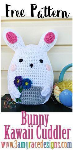Easter Bunny amigurumi ragdoll rag doll free crochet pattern