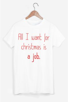 Rad Christmas Sweaters: All I Want For Christmas Is A Job