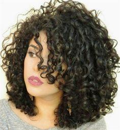Super Hair Waves Medium Length Cut And Color 36 Ideas Curly Hair Tips, Short Curly Hair, Hair Dos, Curly Hair Styles, Natural Hair Styles, 4b Hair, Curly Girl, Short Perm, Medium Curly