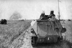 German armored personnel carriers in the Kuban steppe