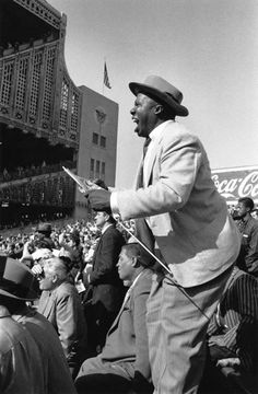 Baseball fans, Yankee Stadium, New York, 1956 by Australian photographer, David Moore  [Please keep photo credit and original link if reusing or re-pinning. Thanks!]