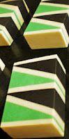 Savons et Fantaisies: Tuto du savon Triangles - Inclusions triangulaires
