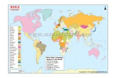 This ppt slide set showing english speaking countries map has slides world language map gumiabroncs Gallery