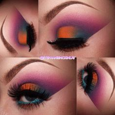 Colorful eye shadow