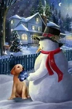 A Christmas Gift Thomas Wood Box of 18 Snowman Christmas Cards by LPG Greetings Christmas Scenes, Vintage Christmas Cards, Christmas Pictures, Christmas Snowman, Winter Christmas, Christmas Holidays, Merry Christmas, Christmas Gifts, Holiday Fun