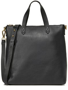Creative Carryall: Madewell The Transport Cross Body Bag A wrinkled leather Madewell handbag in a timeless, mid-sized profile. Brassy hardware lends low-key shine. Top zip and twill-lined, 2-pocket interior. Top strap handles and optional, adjustable shoulder strap. #leatherbags #affiliate