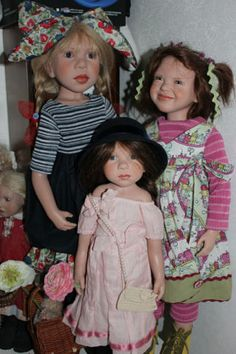 Anne Mitrani Paper Dolls, Art Dolls, Lifelike Dolls, Baba, Beautiful Dolls, Om, Flower Girl Dresses, Sculpture, Wedding Dresses