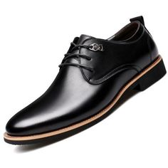Misalwa 2018 Men Dress Shoes Simple Style Quality Men Oxford Shoes Lace-up Brand Men Formal Shoes Men Leather Wedding Shoes Casual Leather Shoes, Leather Dress Shoes, Leather Men, Formal Shoes For Men, Men Formal, Derby Shoes, Men Dress, Oxford Shoes, Shoes Men