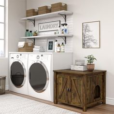 Laundry Room Organization, Laundry Room Design, Organizing, Laundry Area, Wooden Barn Doors, Laundy Room, Litter Box Enclosure, Laundry Room Inspiration, Laundry Room Remodel
