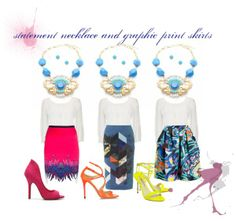 statement necklace | graphic print skirts