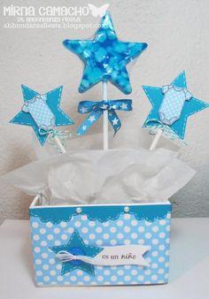 Centro de mesa para baby shower d niño - Imagui