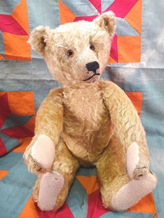 C 1920's Antique Steiff Teddy Bear FF Button Excellent Condition Great Old Bear   eBay